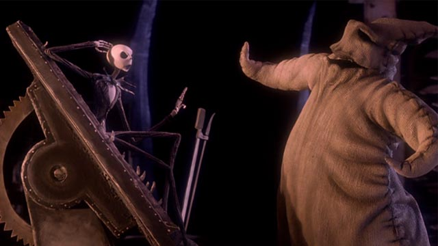 Jack-Skellington-and-Oogie-Boogie-in-The-Nightmare-Before-Christmas-Walt-Disney-Studios